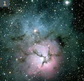 Triffid nebula in Milky way