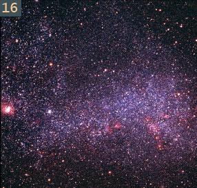 16 magelanic star field